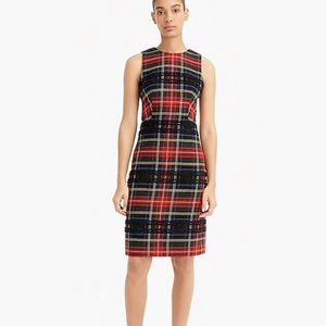 J. Crew Plaid Sheath Dress